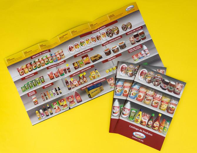 Impressão do catálogo de produtos do cliente Tambaú.