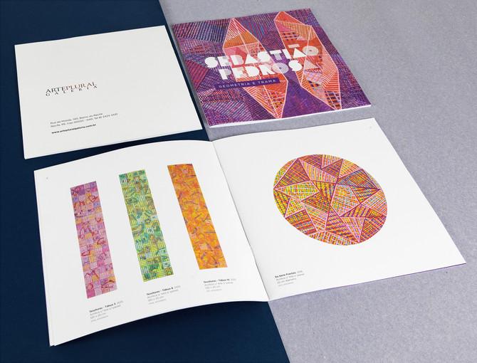 Catálogo da exposição Geometria e Trama do artista plástico Sebastião Pedrosa