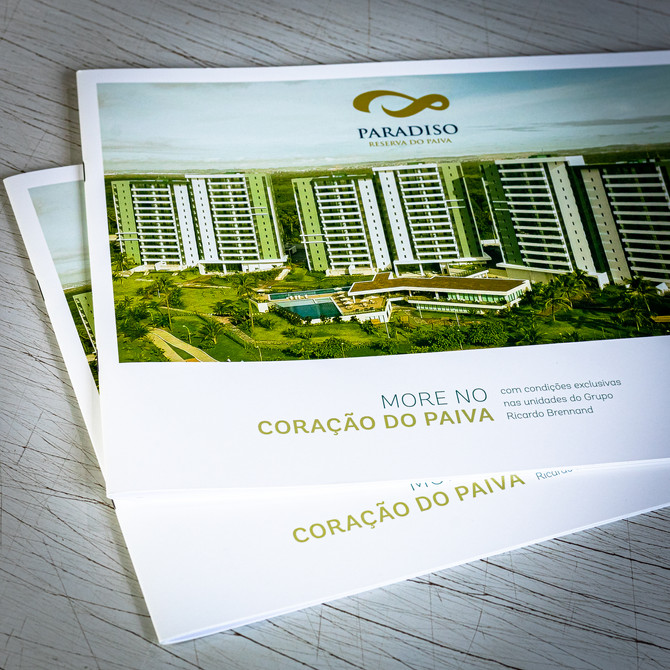 Folder para o cliente Reserva do Paiva