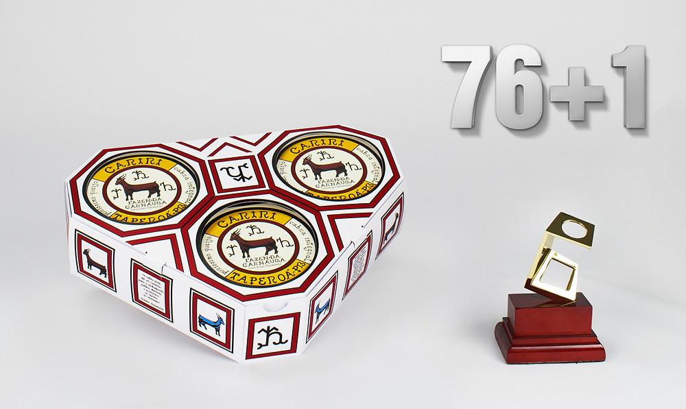 1º colocado no 26º Prêmio Fernando Pini 2016 Categoria: Embalagens semirrígidas sem efeitos gráficos Produto: Embalagem Queijo de Cabra (Ariano Suassuna)  Cliente: Ariano Suassuna