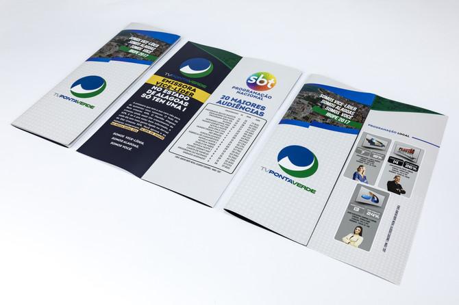 Folder para TV Ponta Verde de Alagoas.