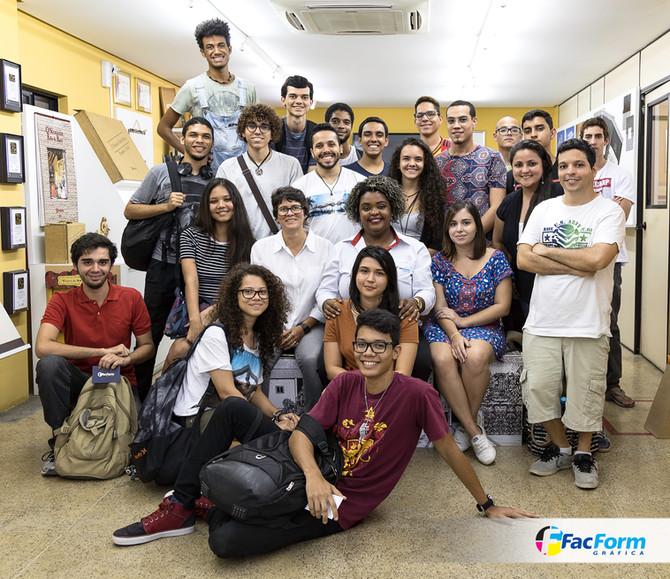 Visita da Aeso do curso de Design Gráfico