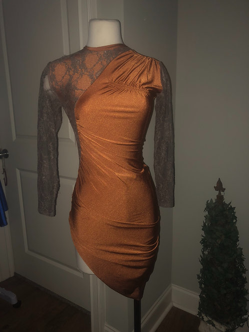 Rust contemporary dance dress