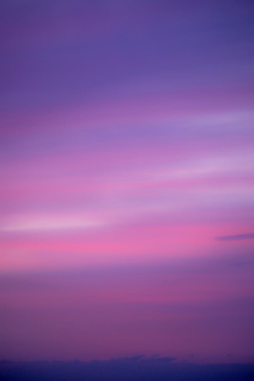 A mauve sky