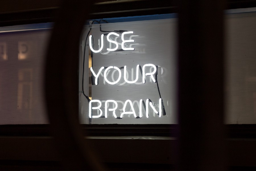 "Signboard that says ""Use Your Brain"""