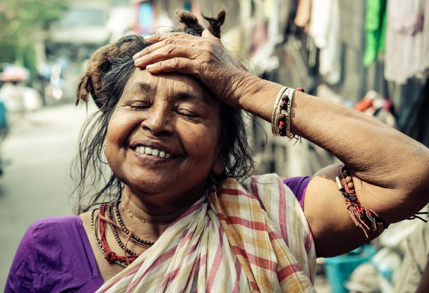 Picture of happy Indian woman