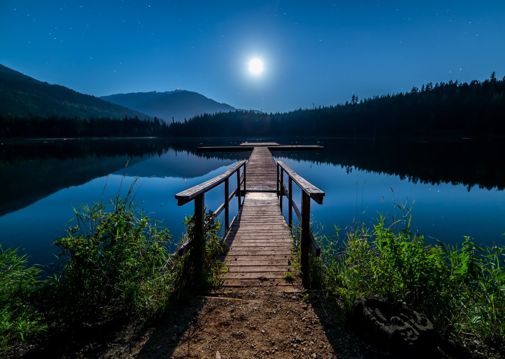 solitude and contemplation with the moon