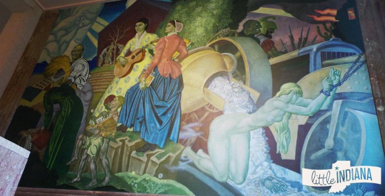 Courthouse mural depicting struggles of women