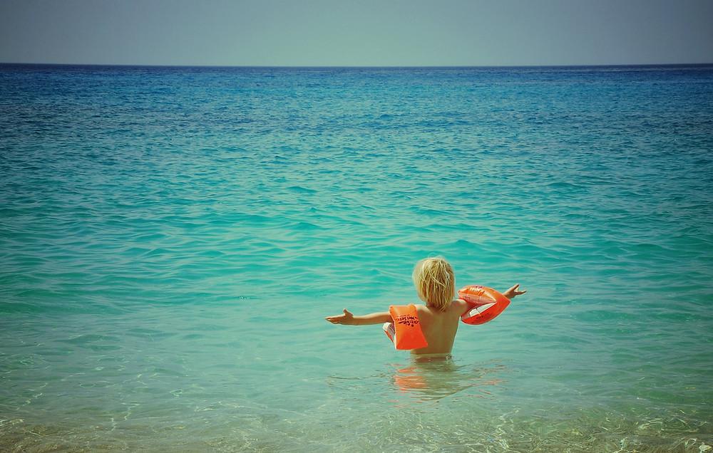 girl enjoying water
