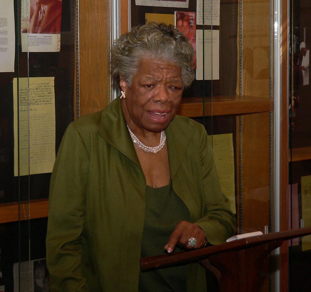 Photo of Maya Angelou speaking in 2007