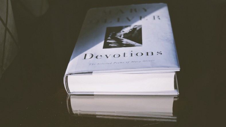 "Mary Oliver's book ""Devotions"""