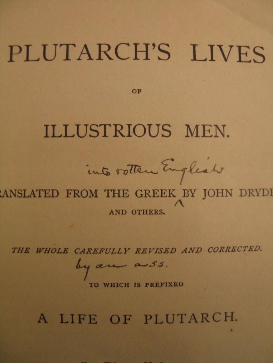 Mark Twain's Marginalia on Plutarch's Lives