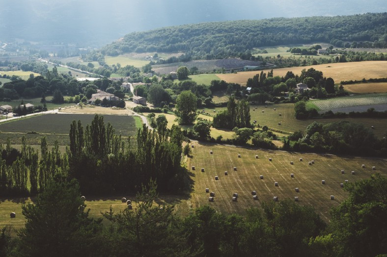 Photograph of French countryside