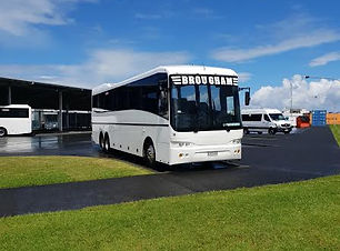 Brougham Buses Parked