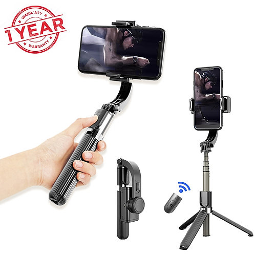 Gimbal Smartphone 3 IN 1 Selfie Stick Tripod Stabilizer With Bluetooth Remote