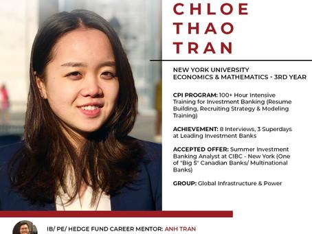 Chloe Thảo Trần - 100+ giờ dùi mài kinh sử để bước vào ngành Ngân hàng đầu tư