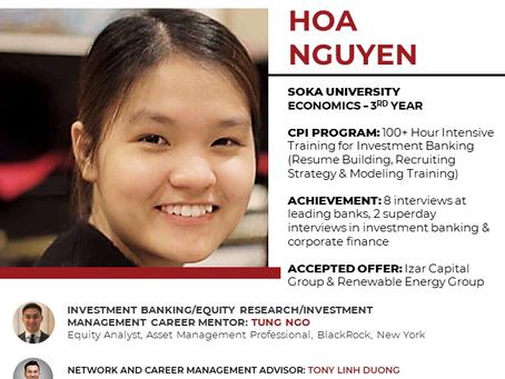 Hoa Nguyễn - 2 lời mời thực tập hè 2019 trong ngành Đầu tư tài chính & ngân hàng