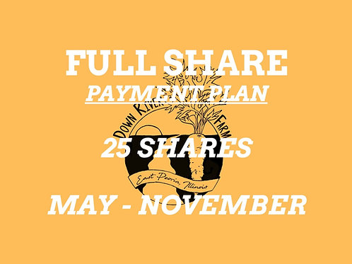 2021 Full Share Payment Plan