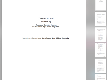 Pre-Production for Chapter 2: PLAY