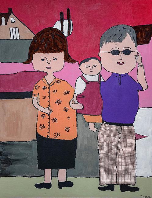 Yvonne Backs - familieportret met peuter