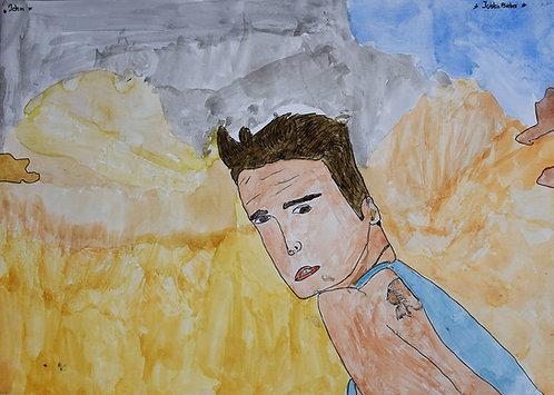 John Van Geesberghen - Justin Bieber op het strand