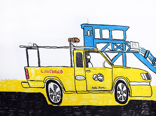 Sven Langhmans - Lifeguard auto Baywatch