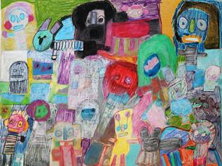 collage van verschillende figuren