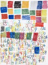 cijfers en vlakken in kleur 2