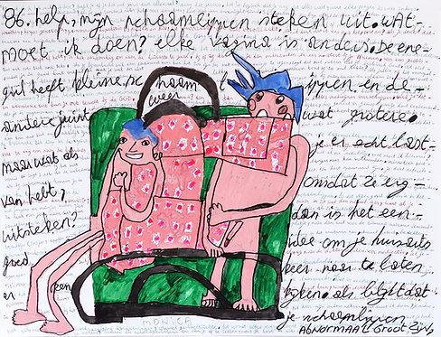 """Monica Laroche - """"Help mijn schaamlippen steken uit"""" met koppel in bed"""