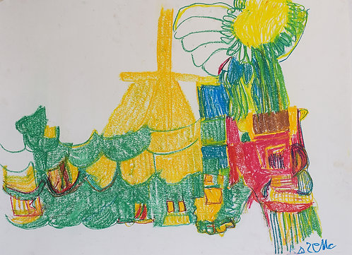 Rozette Goovaerts - Gele kerk in het bos