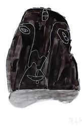 zwart portret