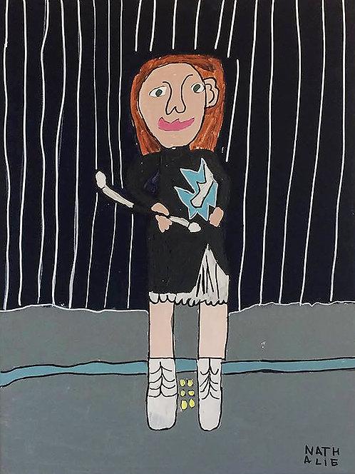Nathalie Lannoo - majorette zelfportret