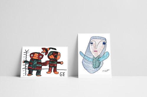Postkaartenset 4 - vijf stuks - 2020