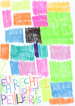 letters en vlakken in fluo kleur