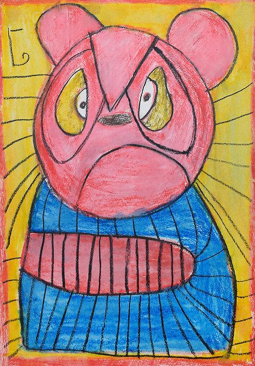 Jef Cloostermans - Disney beer blauw en rood