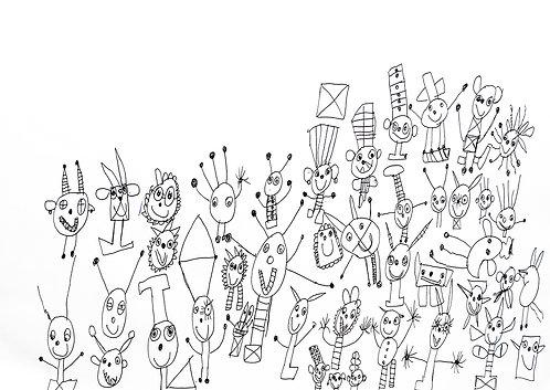 Sonny Perez - figuren met gekke hoofddeksels