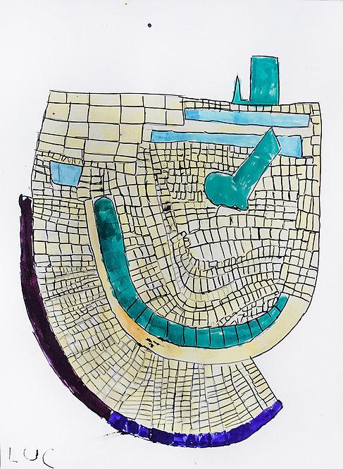 Luc Van Muylder - plattegrond groen gebouw