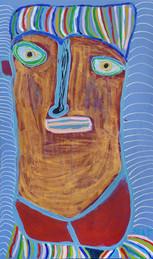 goud portret met lang hoofd