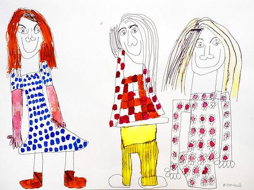 Monica Laroche - drie meisjes