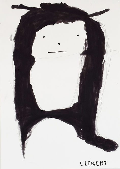 Clement Cretoir - figuurtje op zwart