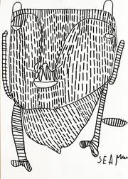 Figuur in zwart gevuld met strepen