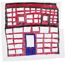 collage van papier met gebouw 7