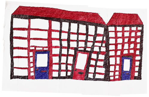 Jan Wuyts - collage van papier met gebouw 8