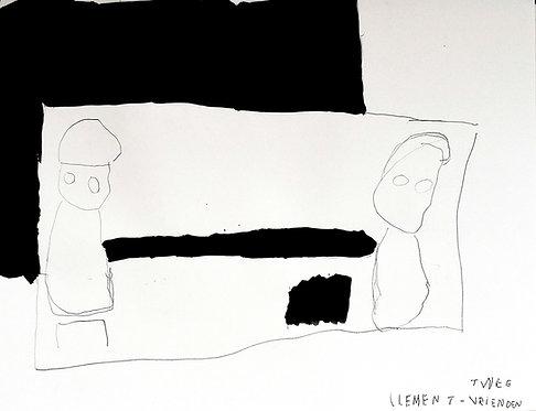Clement Cretoir - twee vrienden