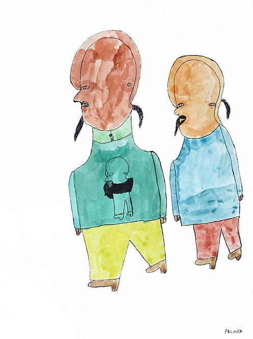 Palmer Nuyttens - Twee mannen met baarden