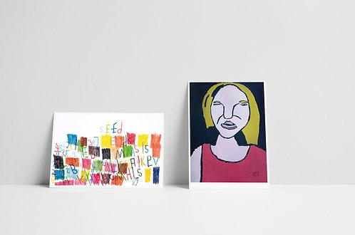 Postkaartenset 5 - tien stuks - 2020