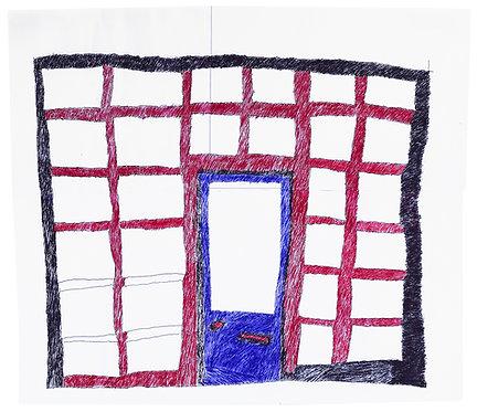 Jan Wuyts - collage van papier met gebouw 13