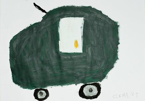Clement Cretoir - kaki groene auto