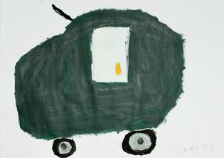 kaki groene auto