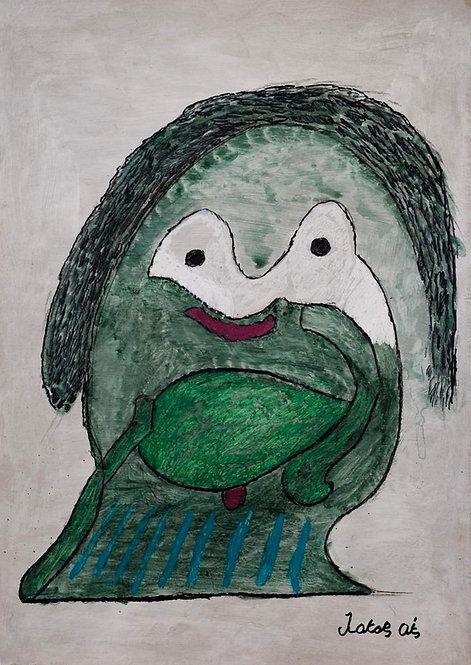 François Oste - groen mannetje
